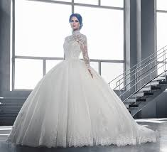 exclusive wedding dresses exclusive lace high neck sleeve wedding dress of the
