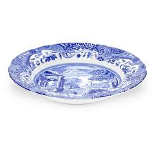 spode blue italian 9 inch soup plates set of 4 spode uk