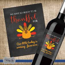 thanksgiving pregnancy announcement baby announcement wine