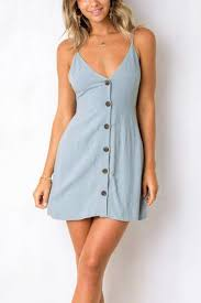 light blue mini dress frigirl v neck hollow out light blue mini dress