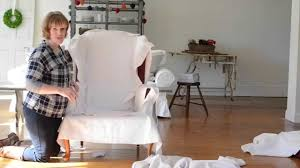 How To Make A Wing Chair Slipcover How To Make A Slipcover Part 2 Cutting The Fabric Youtube