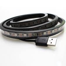 ip67 led strip lights 1m waterproof ip67 rgb 5v usb led strip 5050 ws2812 ic ambilight tv