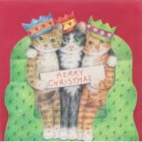 roi mage canapé carte 3d joyeux noël de la part de trois petits en rois mages