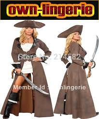 Viking Halloween Costume Women Carnival Pirate Costume Woman Brown Color Viking Cosplay