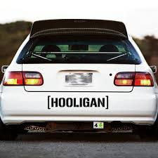 jdm tuner cars hooligan decal sticker window banner hoonigan ken block racing