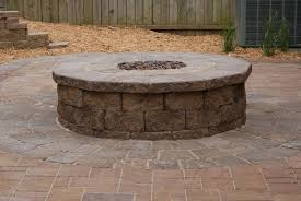 how scenery around a outdoor propane fire pit