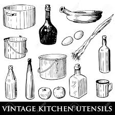 cocktail shaker vector set of vintage kitchen utensils royalty free cliparts vectors