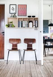 fritz hansen chairs wall art bookshelf scandinavian apartment