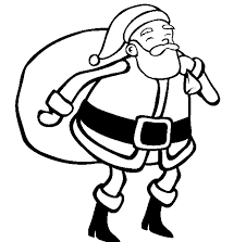 santa christmas easy coloring pages printable christmas coloring