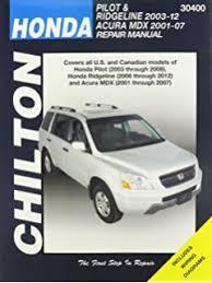 2010 honda pilot service manual amazon com acura mdx honda pilot ridgeline haynes manual 2001