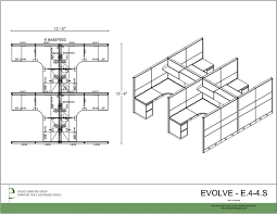 Cubicle Floor Plan by Global Evolve Tile Systems Furniture Cubicle Modular Workstations