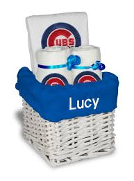 Gift Baskets Chicago Personalized Chicago Cubs Small Gift Basket Mlb Baby Gift