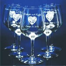 personalized glasses wedding personalized engraved wine glasses for weddings wedding favors