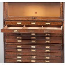 Bookcase With Filing Cabinet Weis Barrister U0027s Bookcase With Flat File Drawers Lot 624