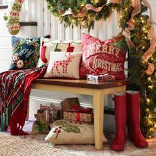 Pier One Christmas Ornaments - burlap and plaid table runner for christmas burlap plaid and