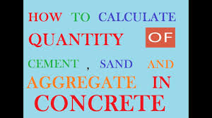 How To Figure Out Square Footage Of A House How To Calculate Cement Sand And Aggregate Quantity In Concrete