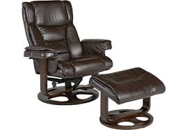Brown Leather Chair With Ottoman Matteo Brown Chair U0026 Ottoman Leather Chairs Brown