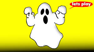 happy ghost clipart ghost halloween cartoon for children learn colors u0026 counting