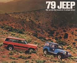 brown jeep cj7 renegade amc 1979 jeep sales brochure