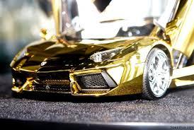 gold plated lamborghini aventador gold plated lamborghini aventador 1 8 scale model costs 7 5m usd
