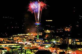 new years in tn city of gatlinburg tn the space needle on new years
