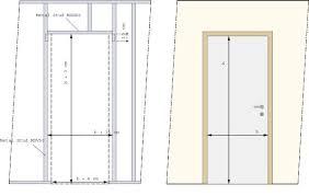dimension porte chambre comment installer une porte dans une paroi en gyproc hubo