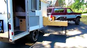 offroad travel trailers bathroom terrific off road cargo trailer conversion slide out