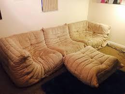 ligne roset togo sofa footstool cream in prestwick south