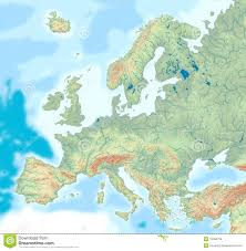 Italy Physical Map by Physical Map Of Europe Royalty Free Stock Images Image 13394739