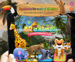 the magic ar animal cards land animal series 24 cards with app for