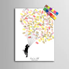 tree guest book personalized wedding fingerprint tree guest book trendieonline