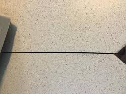 Laminated Countertops - gaps in mitered 45 deg angle cuts on laminate countertops