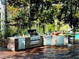 ideas for outdoor kitchen kitchen gorgeous patio with metal cabinet also stove as best