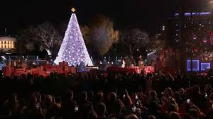obama lights national tree for time abc news