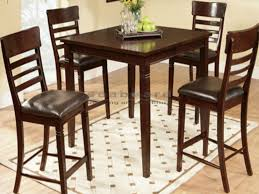 pub height table and chairs top tribecca home capria brown 5 piece counter height pub dining set
