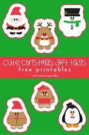cute christmas gift tags free printables the purple pumpkin blog