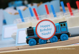 paper cake party aboard printable train birthday
