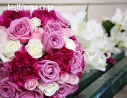 wedding flowers auckland cerise wedding bouquets wedding flowers in shades of hot pink