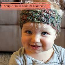 toddler headbands simple shells toddler headband free crochet pattern