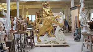 gold lion statues 1901 boston time capsule from lion statue opened cbs boston
