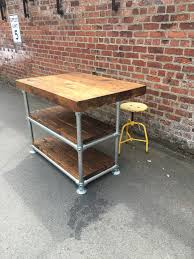 scaffold kitchen island breakfast bar u2013 industrial rustic