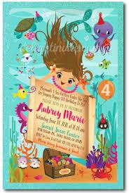 mermaid swim party birthday invitations little mermaid swim party