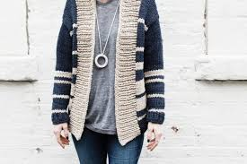 knit a beautiful boyfriend cardigan in fast track brand notebook