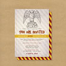 harry potter birthday party invitations marialonghi com