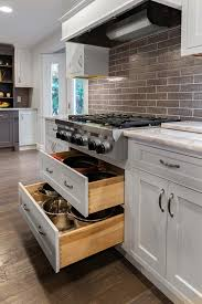 stove top kitchen cabinets drawer pot and pan storage range top