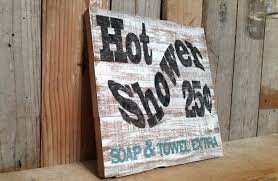 12 x 12 rustic shabby chic shower sign barnwood distressed