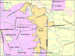 map of maryland with cities file bowie maryland map enlarged png wikimedia commons