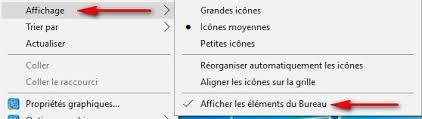 raccourci afficher bureau impossible afficher raccourcis sur bureau windows 10