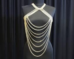 Draped Body Chain Julia Draped Body Chain Harness Chain Lingerie Festival
