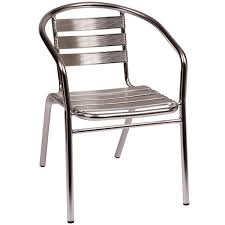 Seating MS Parma Outdoor  Indoor Stackable Aluminum Arm Chair - Outdoor aluminum furniture